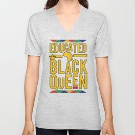 Educated Black Queen Unisex V-Neck