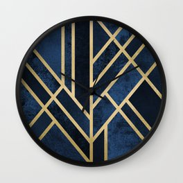 Art Deco Midnight Wall Clock