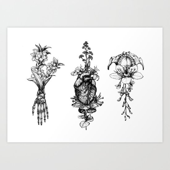 In Bloom - herbarium Art Print
