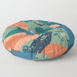 Jerusalem Poster Floor Pillow