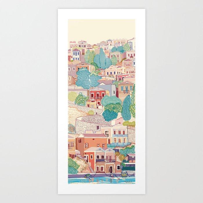 symi island greece Art Print