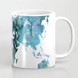 Design 121 Blue World Map Coffee Mug