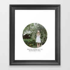 Heaven knows we're miserable now. Framed Art Print