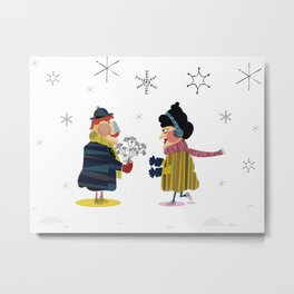 Frank and Wanda Metal Print