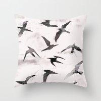 flight Throw Pillows featuring Flight by Georgiana Paraschiv