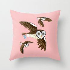Owls On The Prowl Throw Pillow