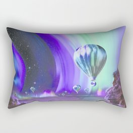 NASA Visions of the Future - Experience the Mighty Auroras of Jupiter Rectangular Pillow