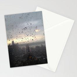 window rain drops Stationery Cards