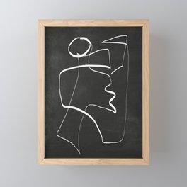 Abstract line art 6/2 Framed Mini Art Print
