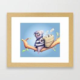 Koala Burglar Framed Art Print
