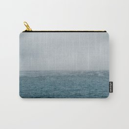cold sea at winter with fog Carry-All Pouch