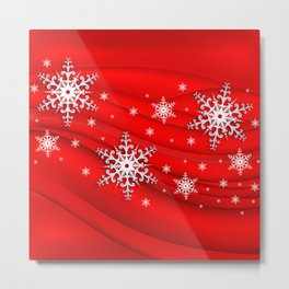 Abstract background with snowflakes Metal Print