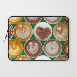 Latte Polka Dots in Winter Green Laptop Sleeve