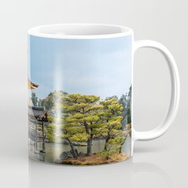 Gold Temple   Nature Travel Photography of Magnificent Golden Pavilion on Pond in Kyoto Japan Coffee Mug