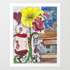 Alice In Freakland Art Print