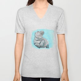 Baby Hippo Underwater Fantasia Ballet Unisex V-Neck