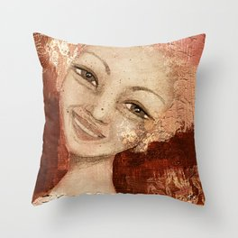 Laughter in her eyes... Throw Pillow