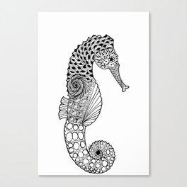 Seahorse DoodleArt Canvas Print