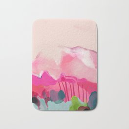 pink mountain Bath Mat