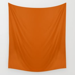 Burnt Orange - solid color Wall Tapestry