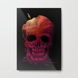 Skull Candle Metal Print