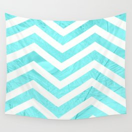 Patterned Chevron (Blue) Wall Tapestry
