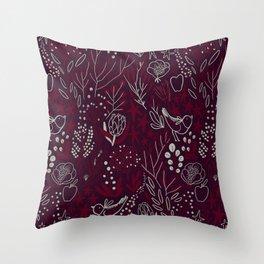 Burgundian winter holiday mood. Throw Pillow