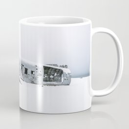 Plane Wreck in Iceland in Winter - Landscape Photography Minimalism Coffee Mug