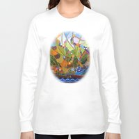 happiness Long Sleeve T-shirts featuring Happiness by Vargamari