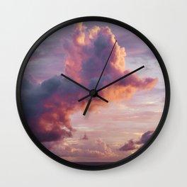 Purple Cloud Storm Wall Clock