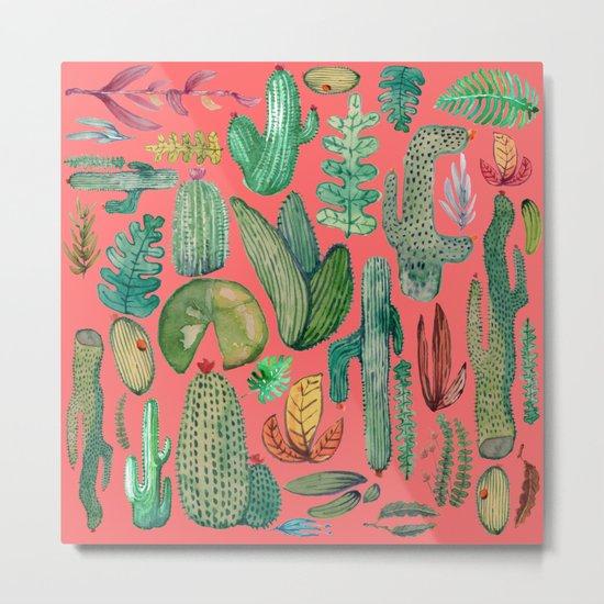 Summer Nature in Pink Metal Print
