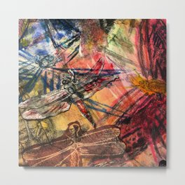 Dragonfly Lifted  Metal Print