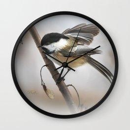 January Chickadee Wall Clock