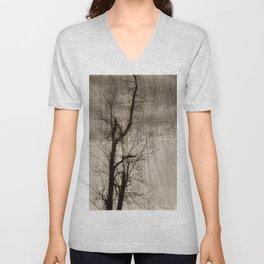 Tree Art In Wood Emulsion Unisex V-Neck