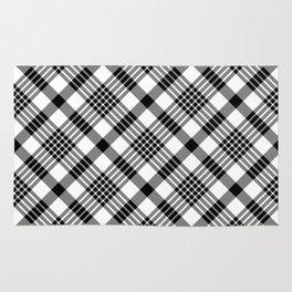 Black and White Plaid Pattern Rug