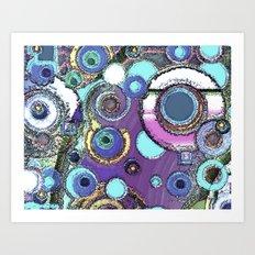 Concrete Circles Art Print