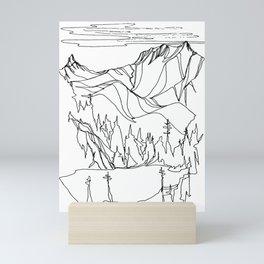 Hidden Alpine Lake Mini Art Print