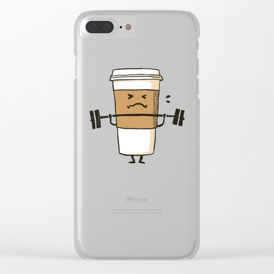 Strong Coffee Clear iPhone Case