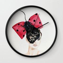 Debry Hat. Black Lace Head Piece. Wall Clock