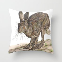 Hare II Throw Pillow