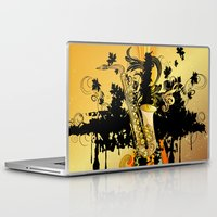 saxophone Laptop & iPad Skins featuring Saxophone by nicky2342
