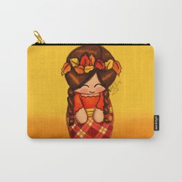 Fall Kokeshi Carry-All Pouch