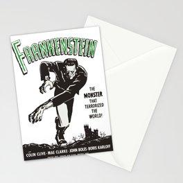 Frankenstein Vintage 1931 Movie Poster, Original Gift Idea, Boris Karloff, Bela Lugosi, Dracula Stationery Cards