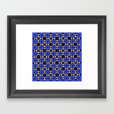 Beetles Pattern Framed Art Print