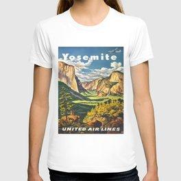 Yosemite National Park Vintage Travel Poster Landscape Illustration T-shirt