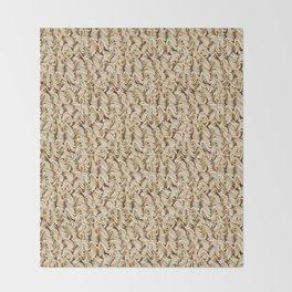Instant Ramen Noodle Pattern Throw Blanket