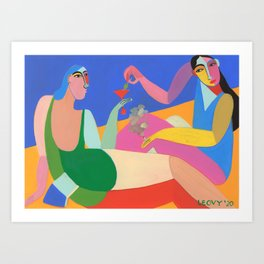 Secrets and olives Art Print