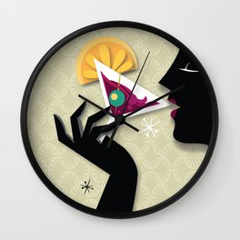 Cocktail drinking Wall Clock