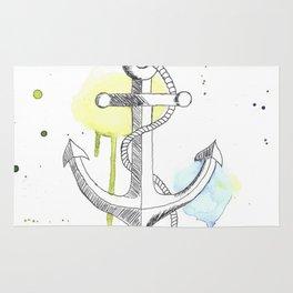 Ancre de bateau (Aquarelle) Rug
