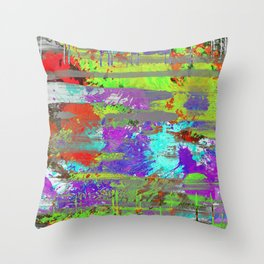 Colour Injection II Throw Pillow